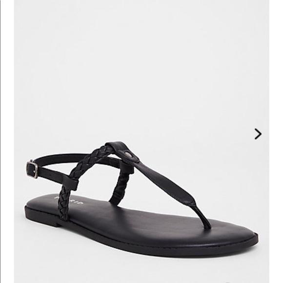 fbf2fb315aa Black braided sandals